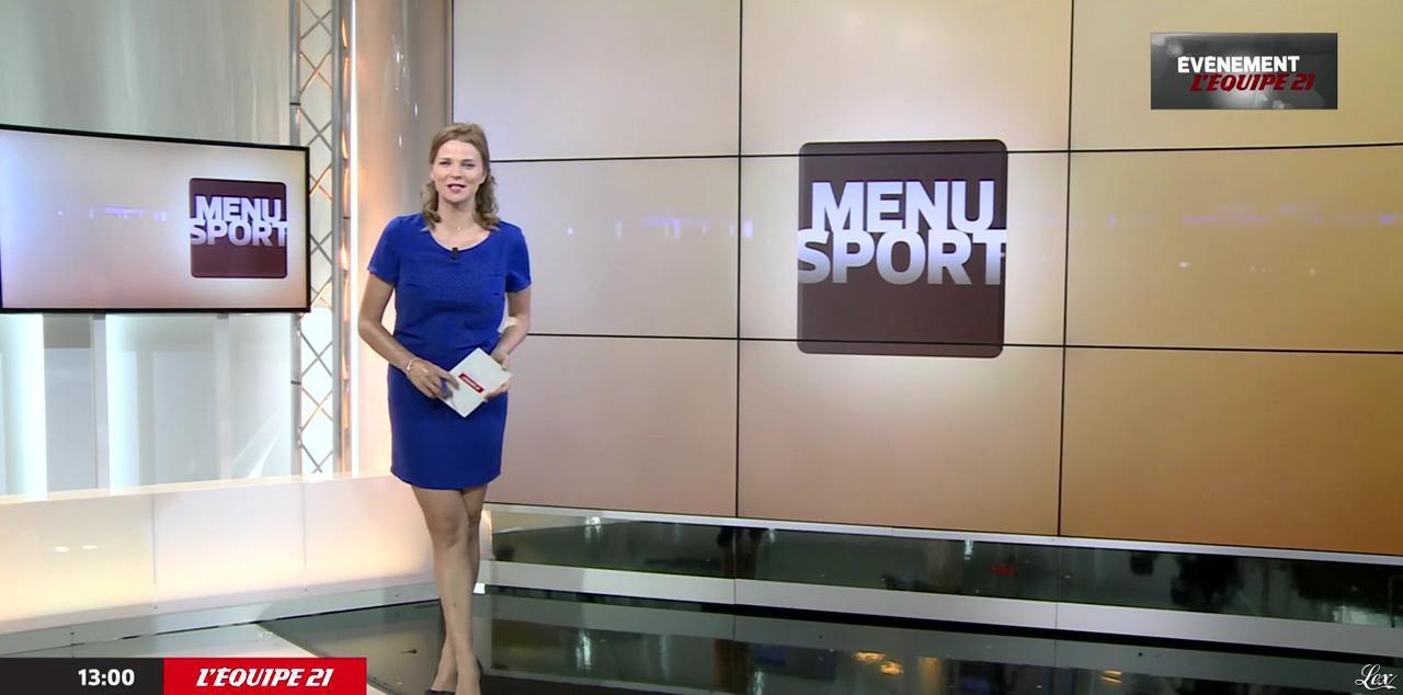 France Pierron dans Menu Sport. Diffusé à la télévision le 01/07/15.