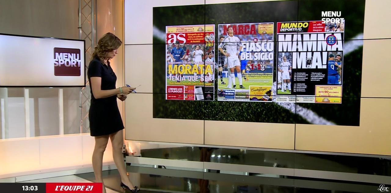 France Pierron dans Menu Sport. Diffusé à la télévision le 14/05/15.