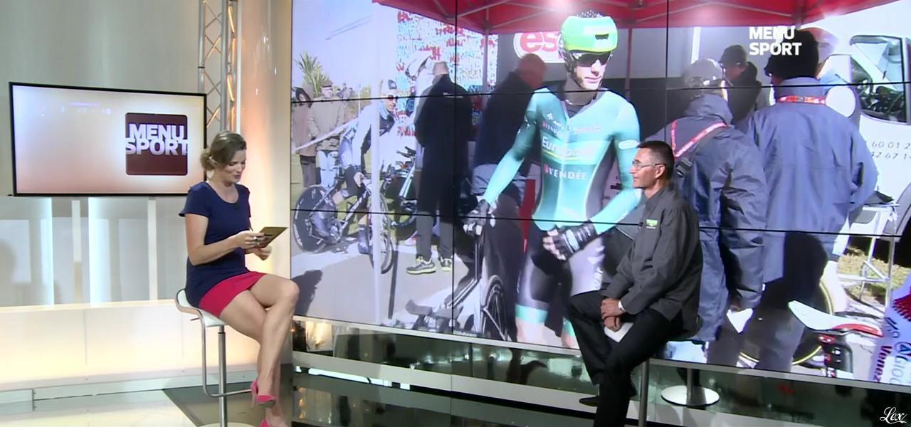 France Pierron dans Menu Sport. Diffusé à la télévision le 19/05/15.