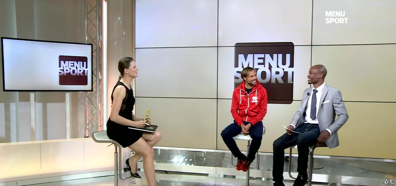 France Pierron dans Menu Sport. Diffusé à la télévision le 24/03/15.