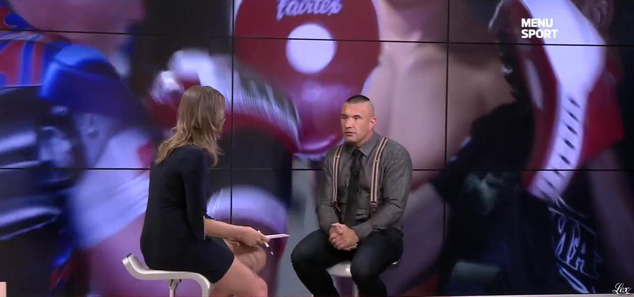 France Pierron dans Menu Sport. Diffusé à la télévision le 24/04/15.