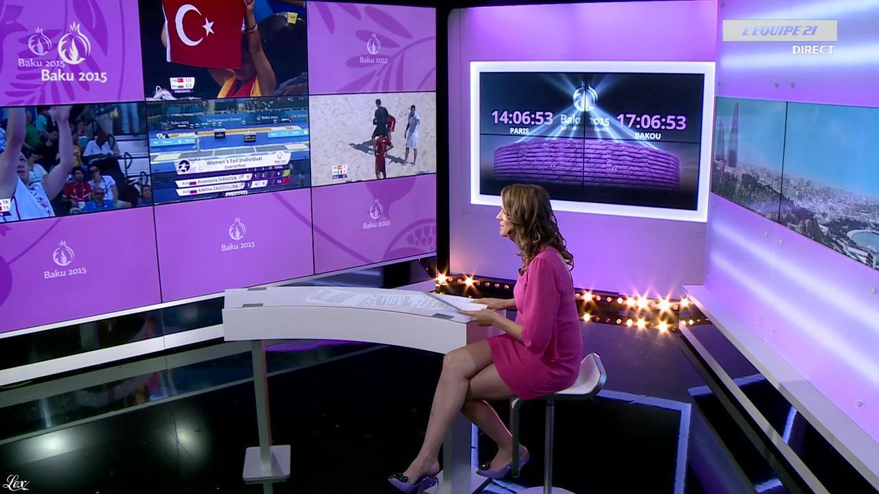 France Pierron dans Menu Sport. Diffusé à la télévision le 24/06/15.