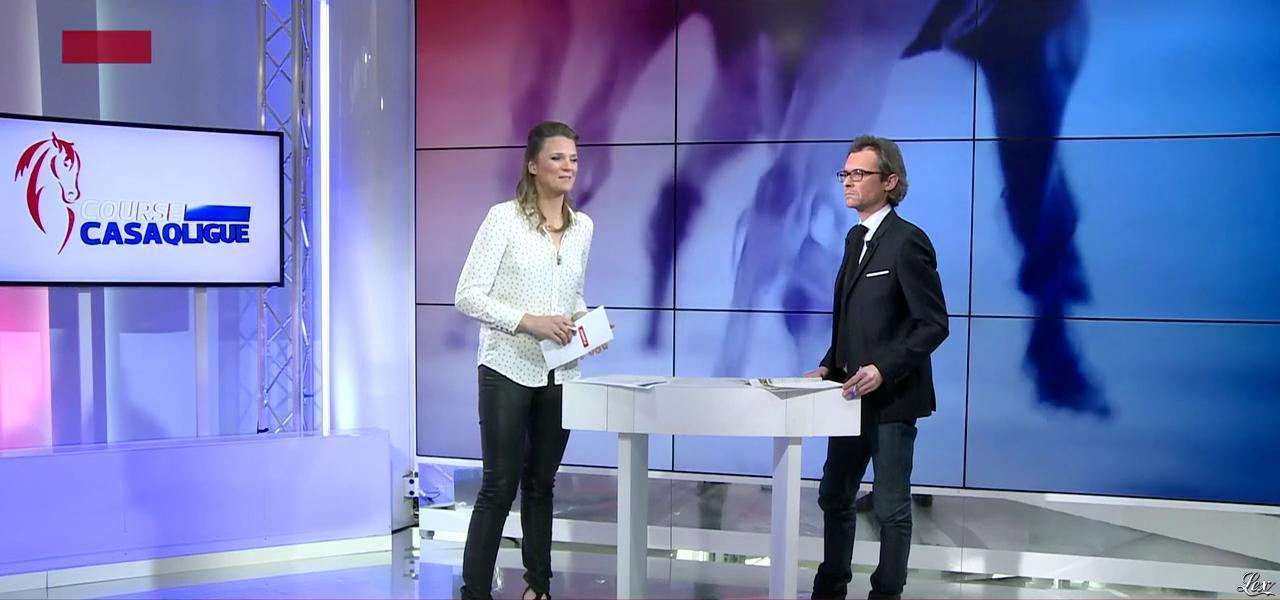 France Pierron dans Menu Sport. Diffusé à la télévision le 25/02/15.