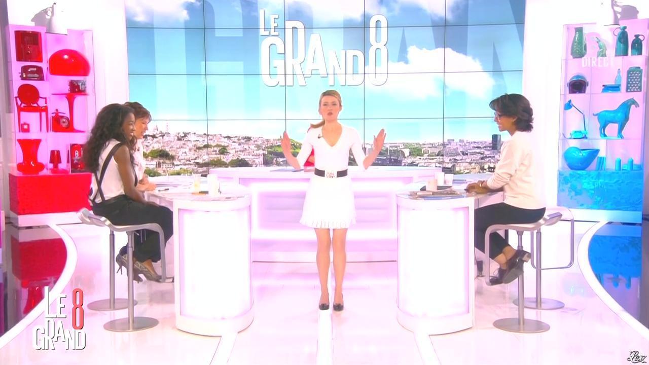 Hapsatou Sy, Audrey Pulvar et Elisabeth Bost dans le Grand 8. Diffusé à la télévision le 07/05/15.