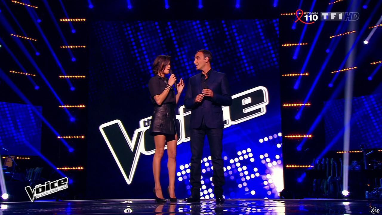 Karine Ferri dans The Voice. Diffusé à la télévision le 28/03/15.