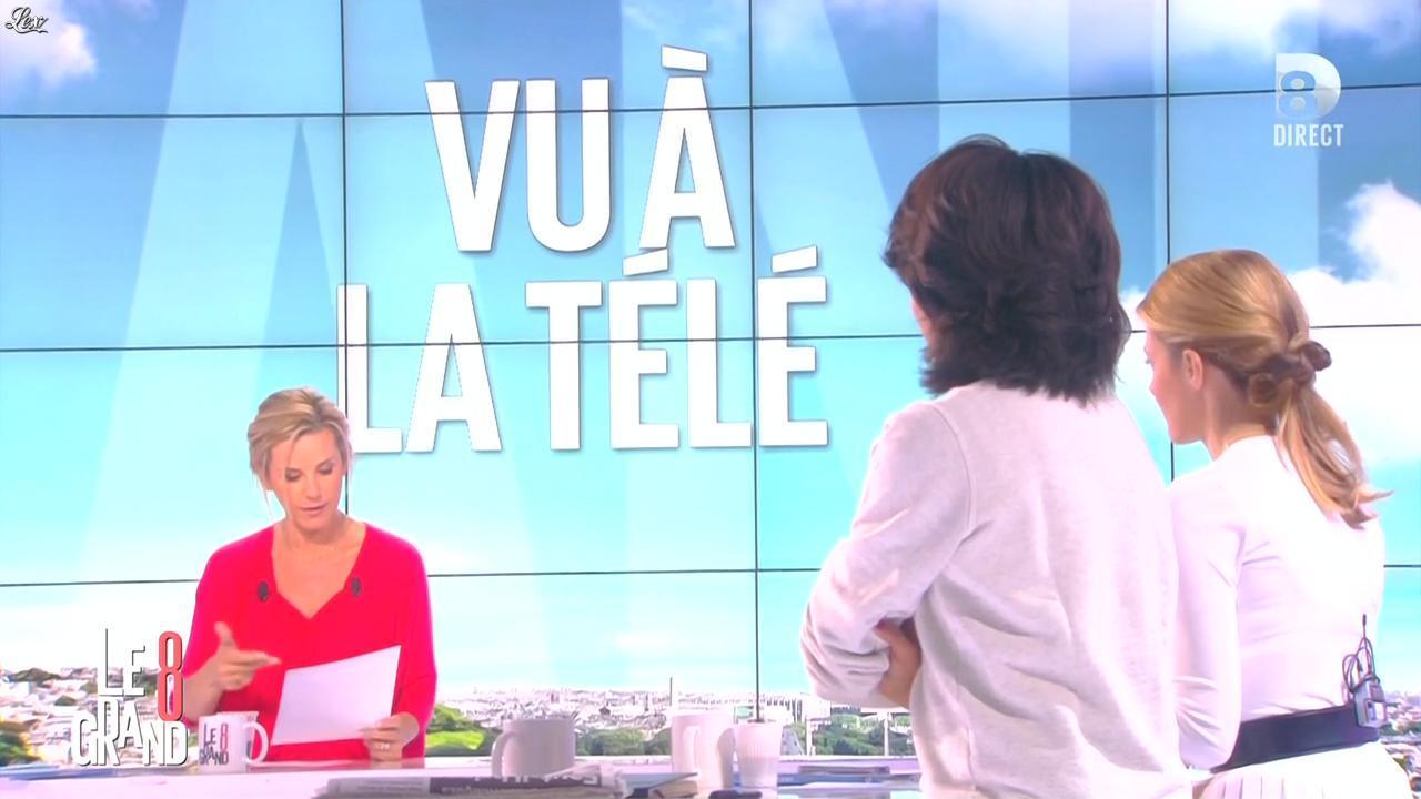 Laurence Ferrari, Audrey Pulvar et Elisabeth Bost dans le Grand 8. Diffusé à la télévision le 07/05/15.