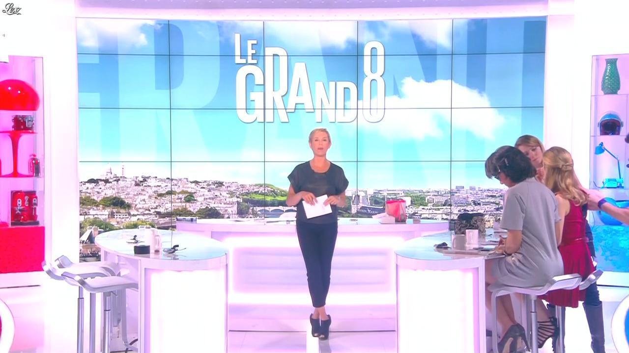 Laurence Ferrari et Audrey Pulvar dans le Grand 8. Diffusé à la télévision le 05/05/15.