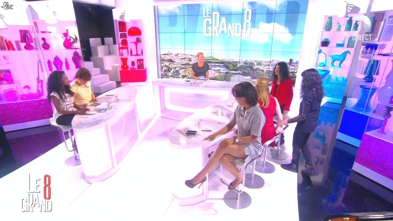 Laurence Ferrari, Hapsatou Sy et Audrey Pulvar dans le Grand 8. Diffusé à la télévision le 05/05/15.