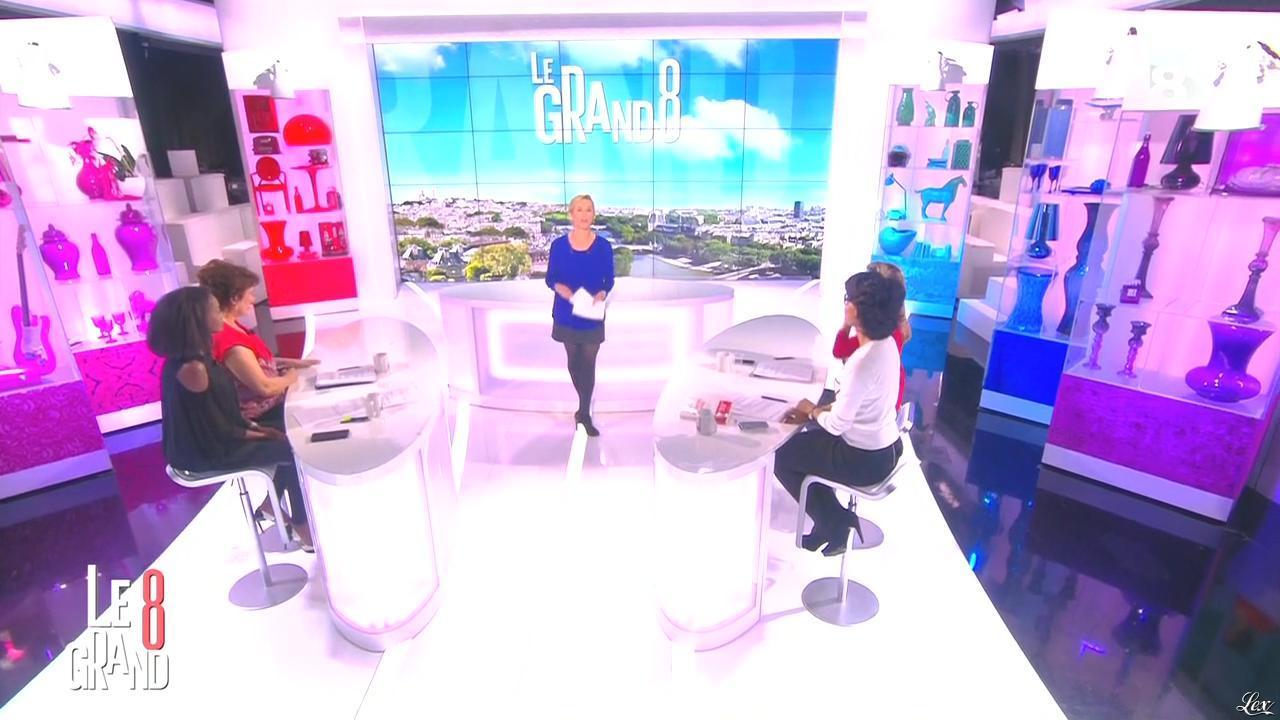Laurence Ferrari, Hapsatou Sy et Audrey Pulvar dans le Grand 8. Diffusé à la télévision le 06/04/15.