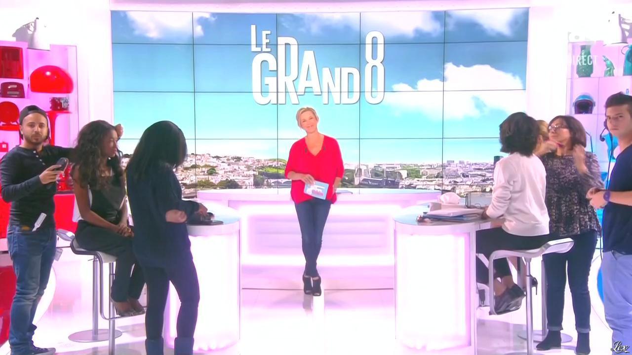 Laurence Ferrari, Hapsatou Sy et Audrey Pulvar dans le Grand 8. Diffusé à la télévision le 07/05/15.