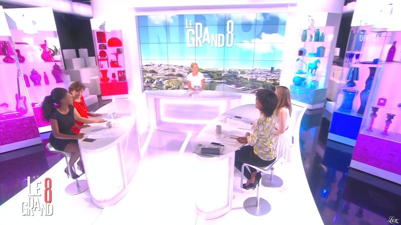 Laurence Ferrari, Hapsatou Sy et Audrey Pulvar dans le Grand 8. Diffusé à la télévision le 12/05/15.