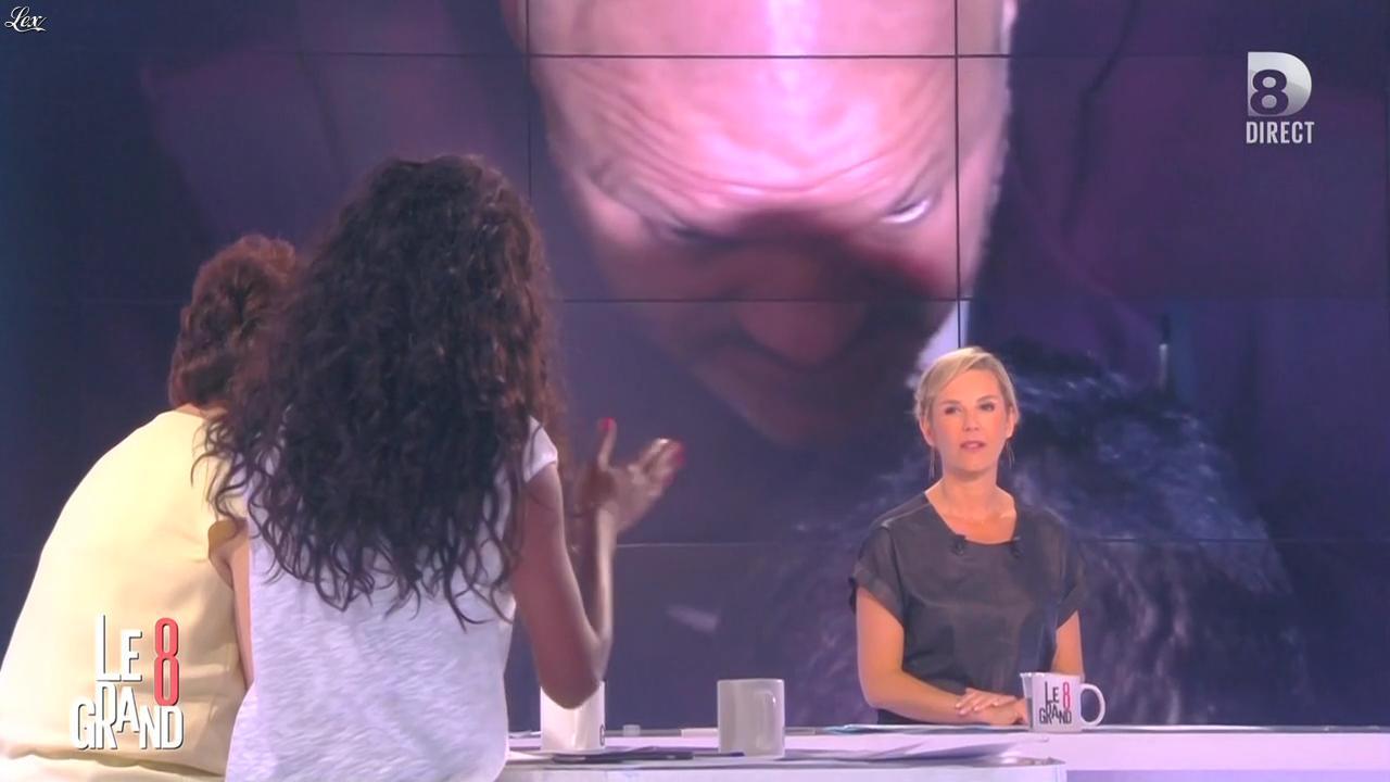 Laurence Ferrari et Hapsatou Sy dans le Grand 8. Diffusé à la télévision le 05/05/15.