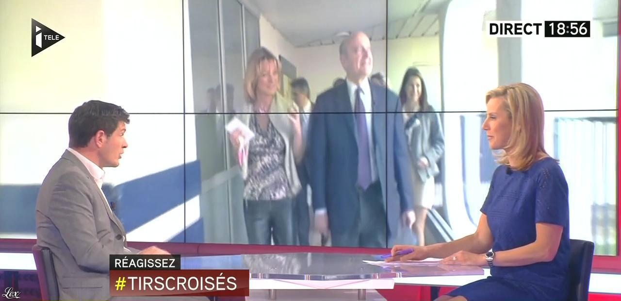 Laurence Ferrari dans Tirs Croisés. Diffusé à la télévision le 21/04/15.