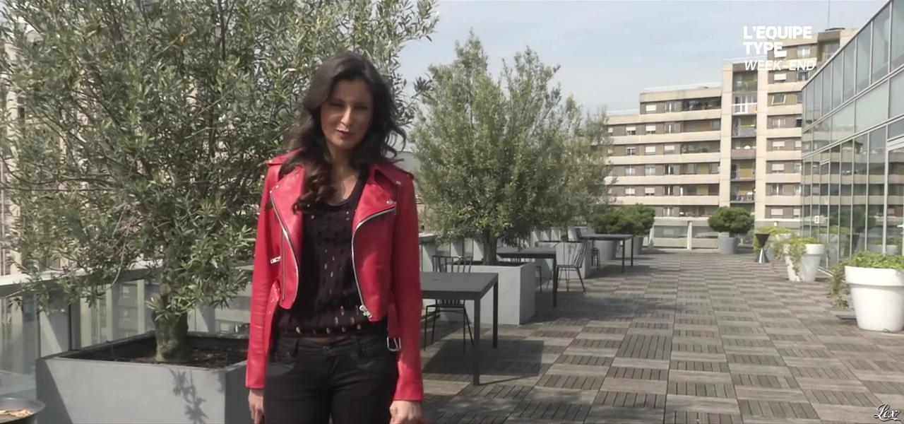 Malika Ménard dans l'Equipe Type. Diffusé à la télévision le 12/04/15.