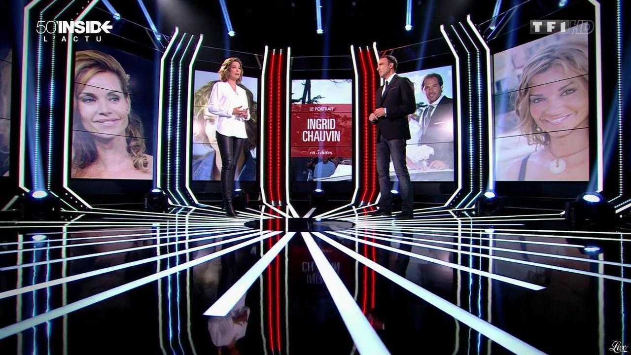 Sandrine Quétier dans 50 Minutes Inside. Diffusé à la télévision le 14/03/15.