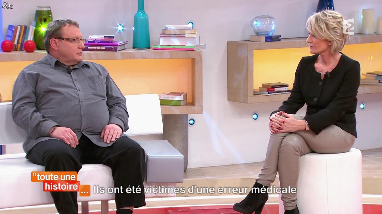 Sophie Davant dans Toute une Histoire. Diffusé à la télévision le 03/03/15.