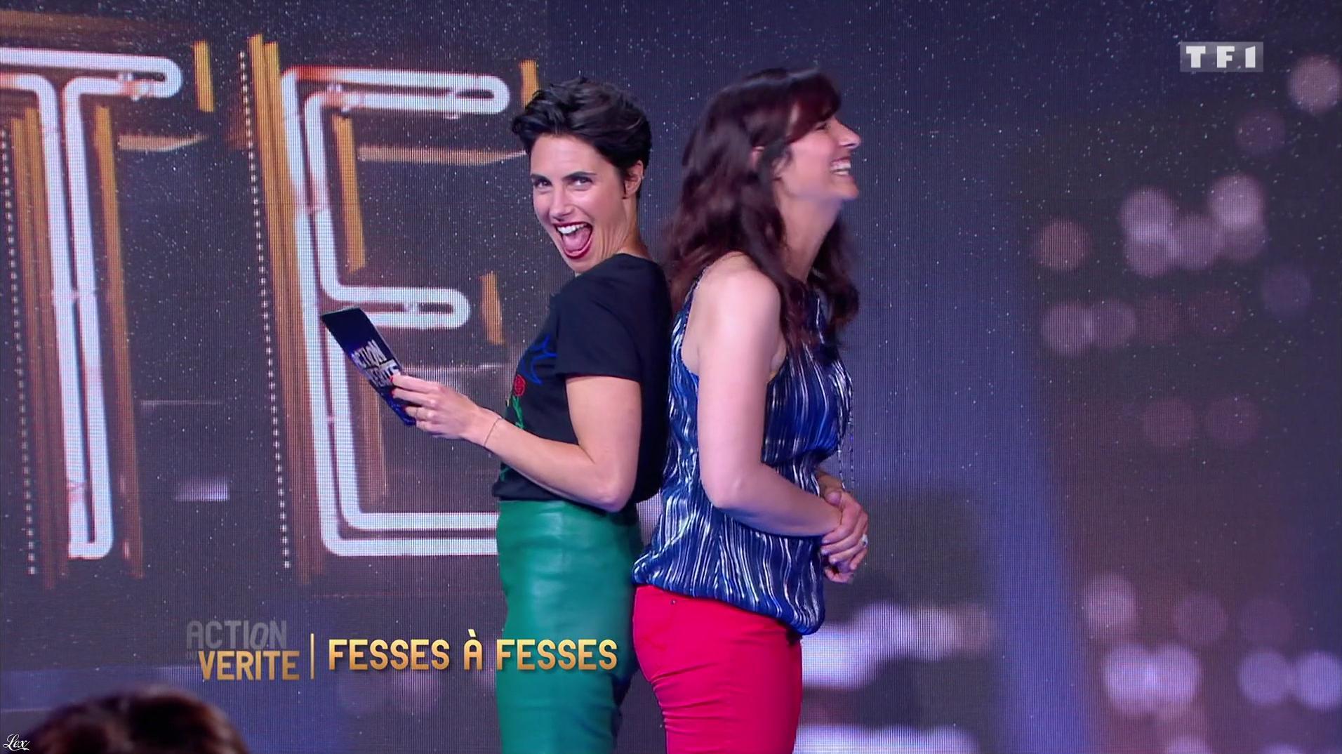 Alessandra Sublet dans Action ou Verite. Diffusé à la télévision le 24/06/16.