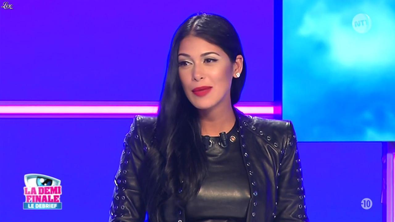 Ayem Nour dans le Debrief. Diffusé à la télévision le 09/11/15.