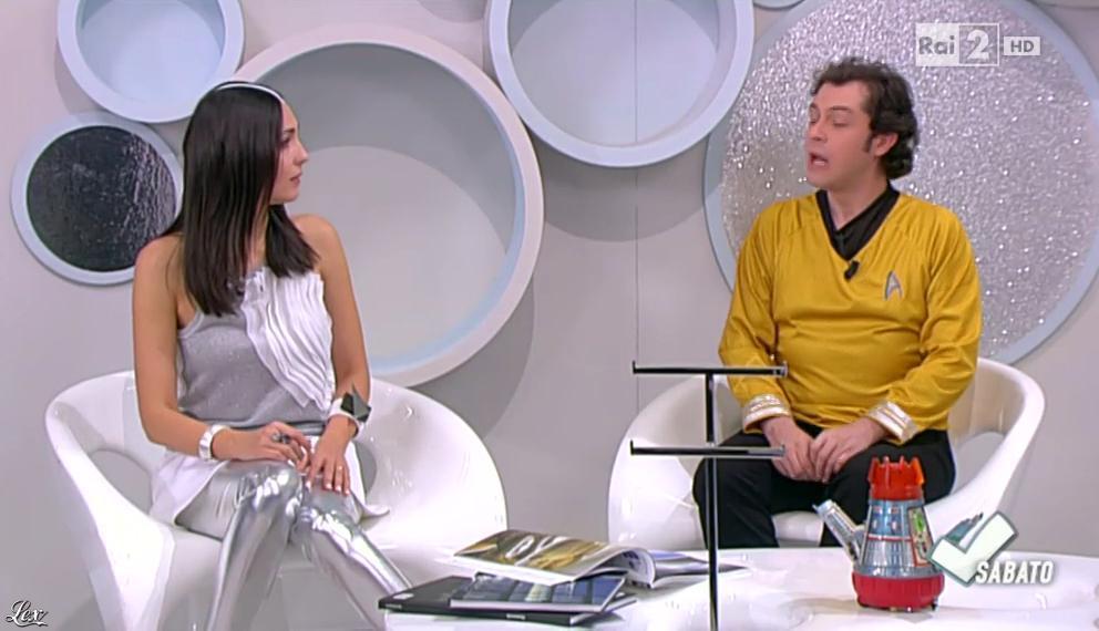 Caterina Balivo dans Detto Fatto Sabato. Diffusé à la télévision le 23/05/15.