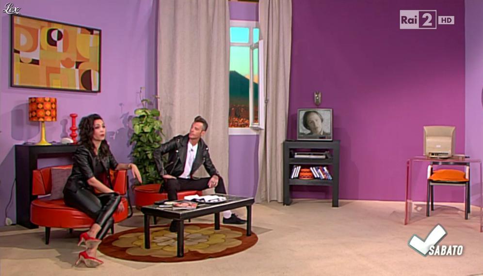Caterina Balivo dans Detto Fatto Sabato. Diffusé à la télévision le 25/04/15.