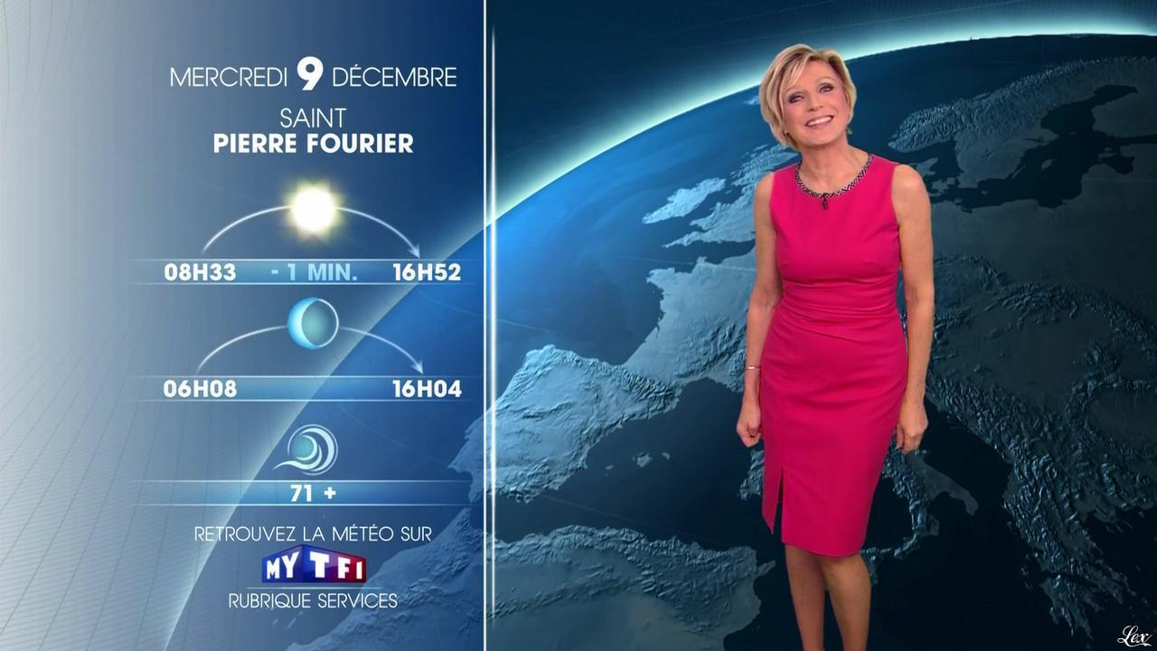Evelyne Dhéliat à la Météo de 20h. Diffusé à la télévision le 08/12/15.
