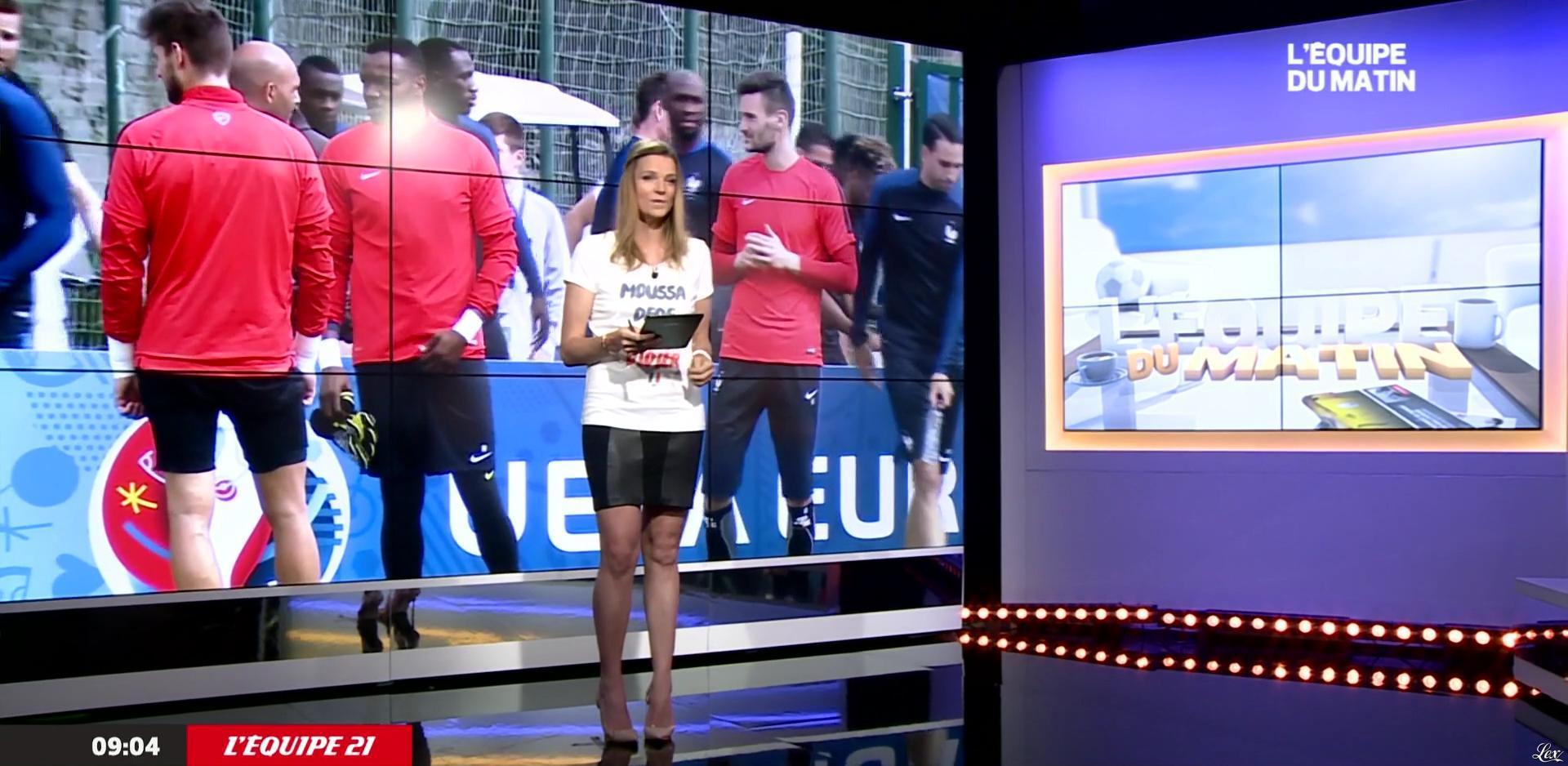 France Pierron dans l'Equipe du Matin. Diffusé à la télévision le 30/06/16.