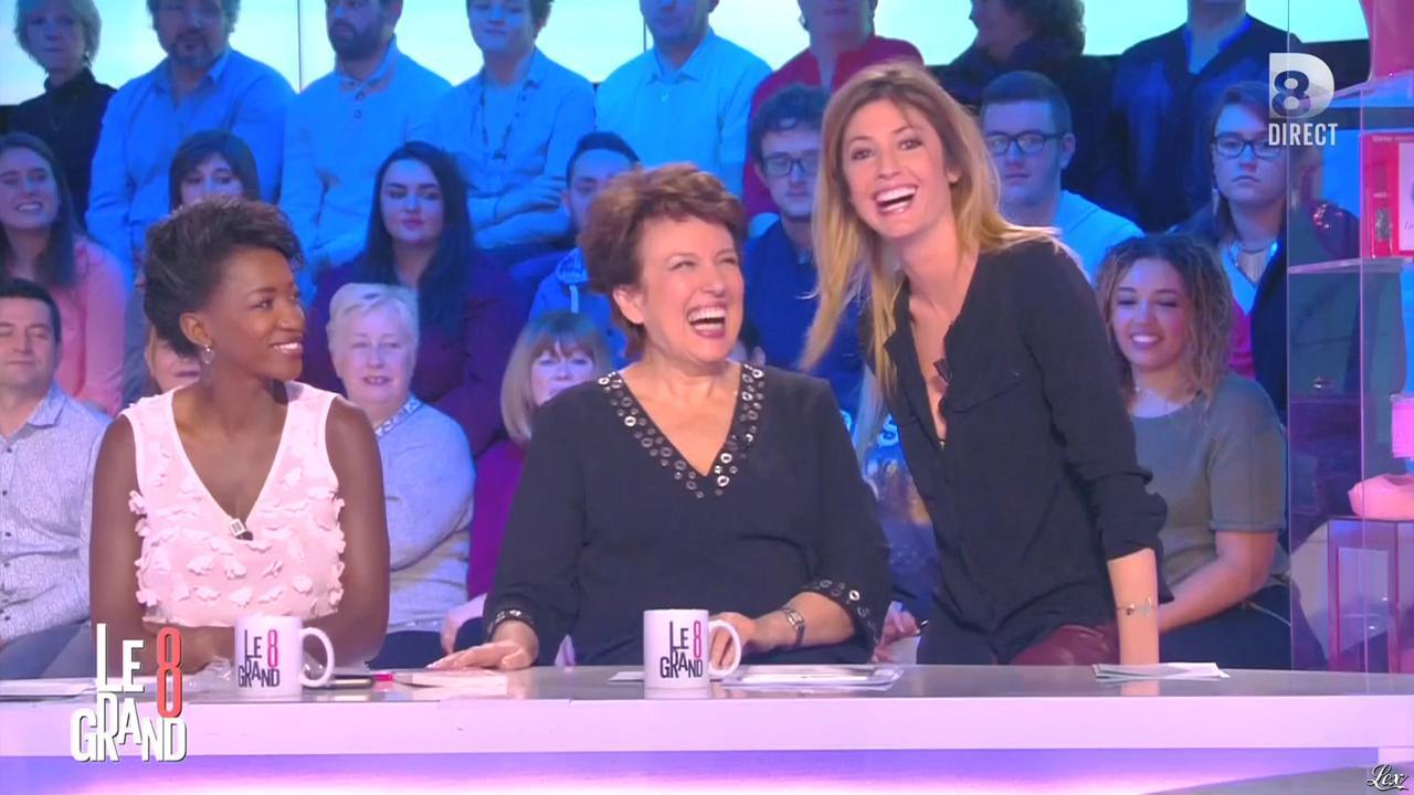 Hapsatou Sy et Caroline Ithurbide dans le Grand 8. Diffusé à la télévision le 01/03/16.