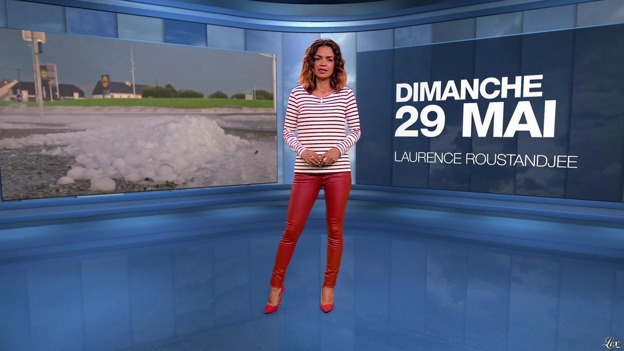 Laurence Roustandjee à la Météo. Diffusé à la télévision le 29/05/16.