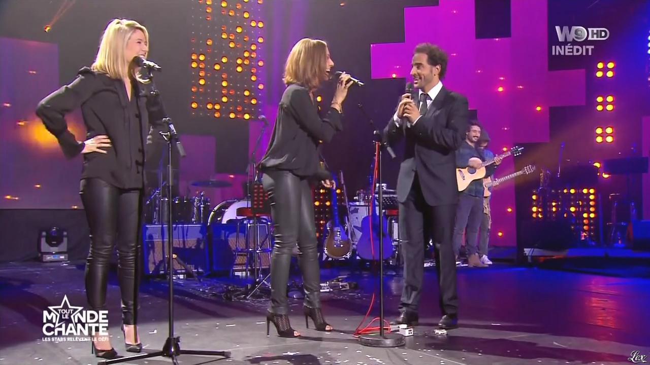 Louise Ekland et Virginie Guilhaume dans Tout le Monde Chante. Diffusé à la télévision le 17/12/15.
