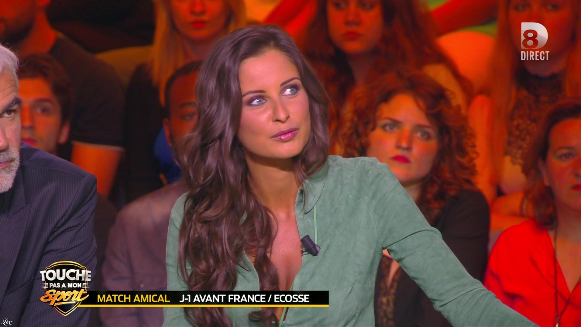 Malika Ménard dans Touche pas à mon Sport. Diffusé à la télévision le 03/06/16.