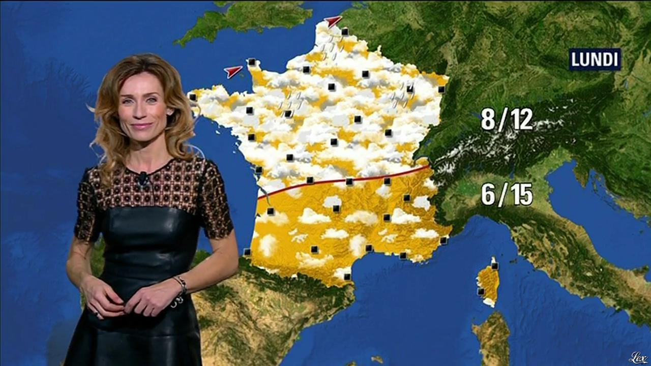 Sandra Larue à la Météo de BFM TV. Diffusé à la télévision le 26/01/16.