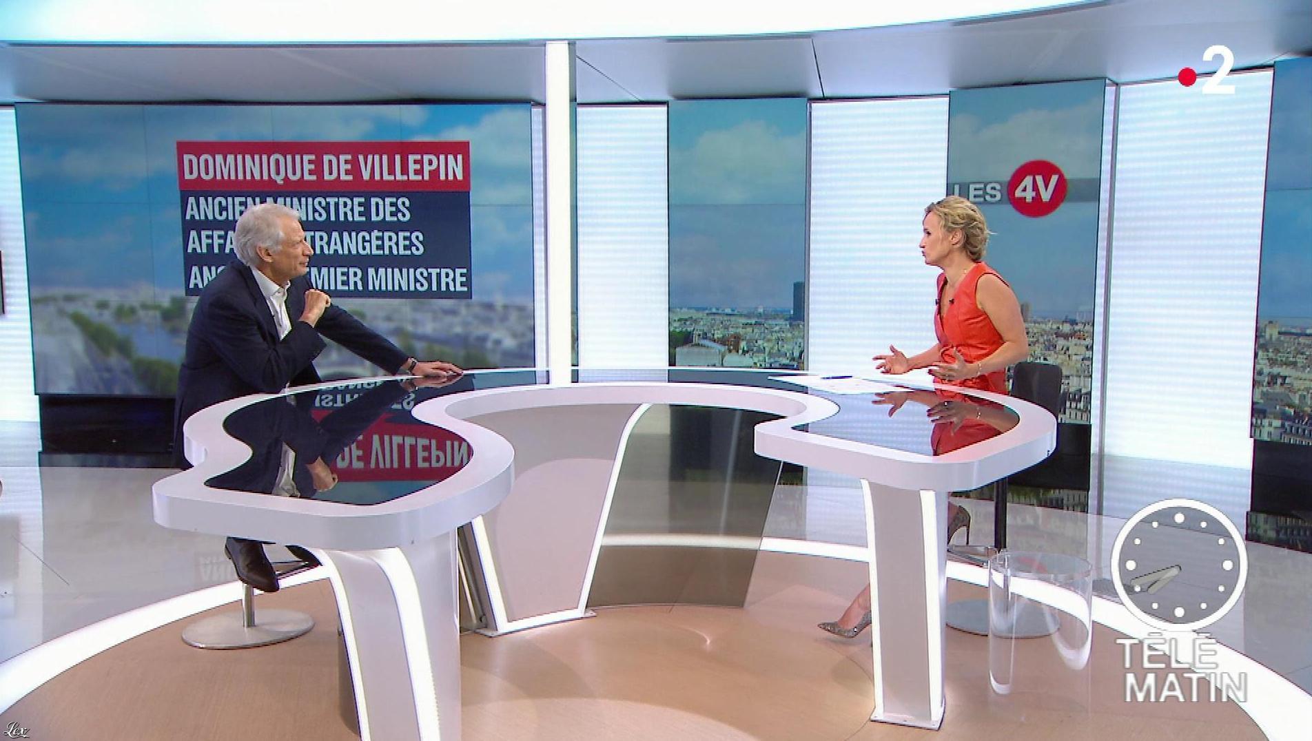 Caroline Roux dans les 4 Vérités. Diffusé à la télévision le 12/07/18.