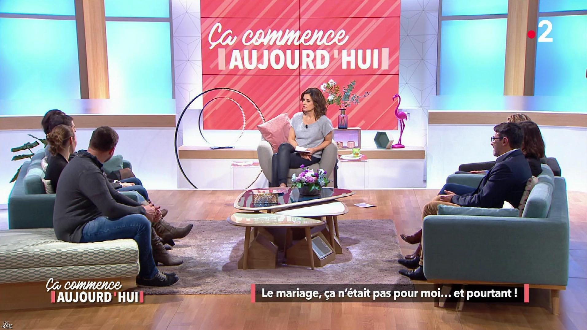 Faustine Bollaert dans Ça Commence Aujourd'hui. Diffusé à la télévision le 28/03/18.
