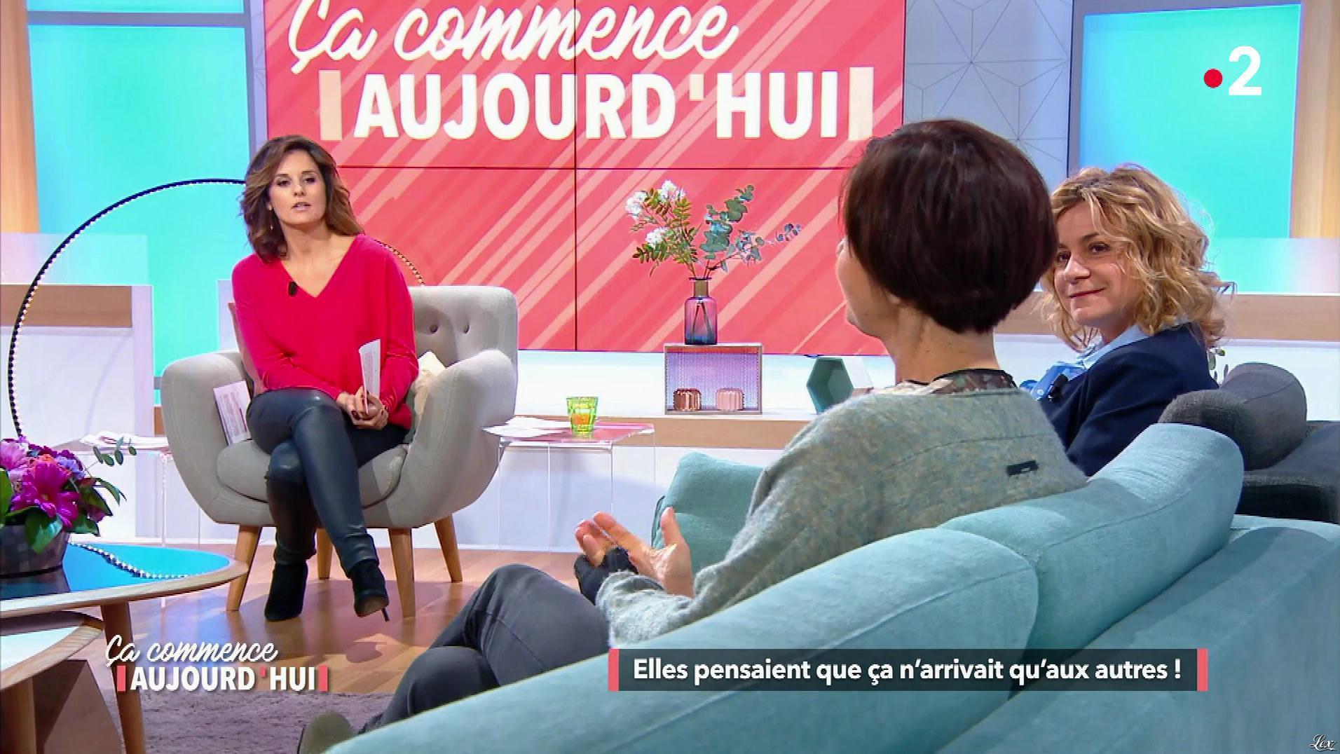 Faustine Bollaert et Christele Albaret dans Ça Commence Aujourd'hui. Diffusé à la télévision le 03/05/18.