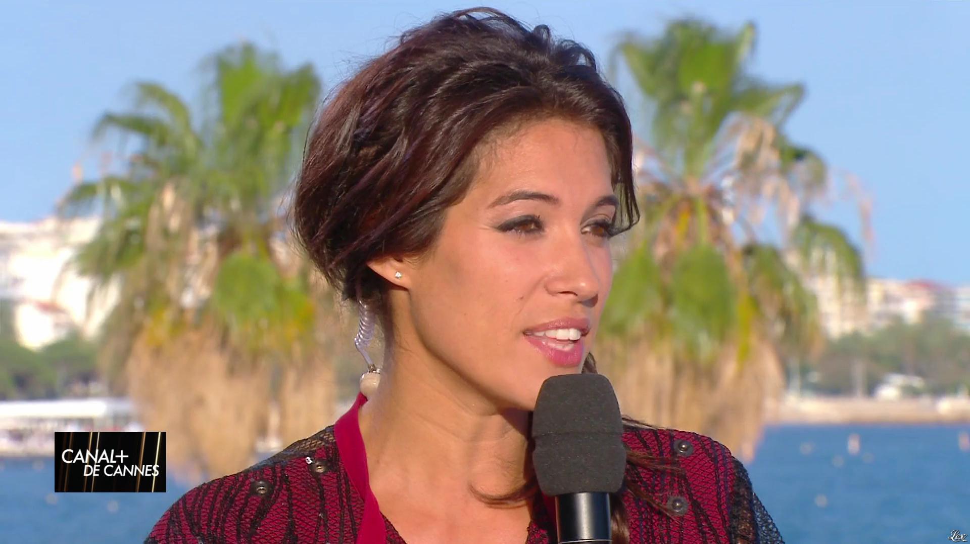 Laurie Cholewa dans Canal Plus de Cannes. Diffusé à la télévision le 22/05/17.