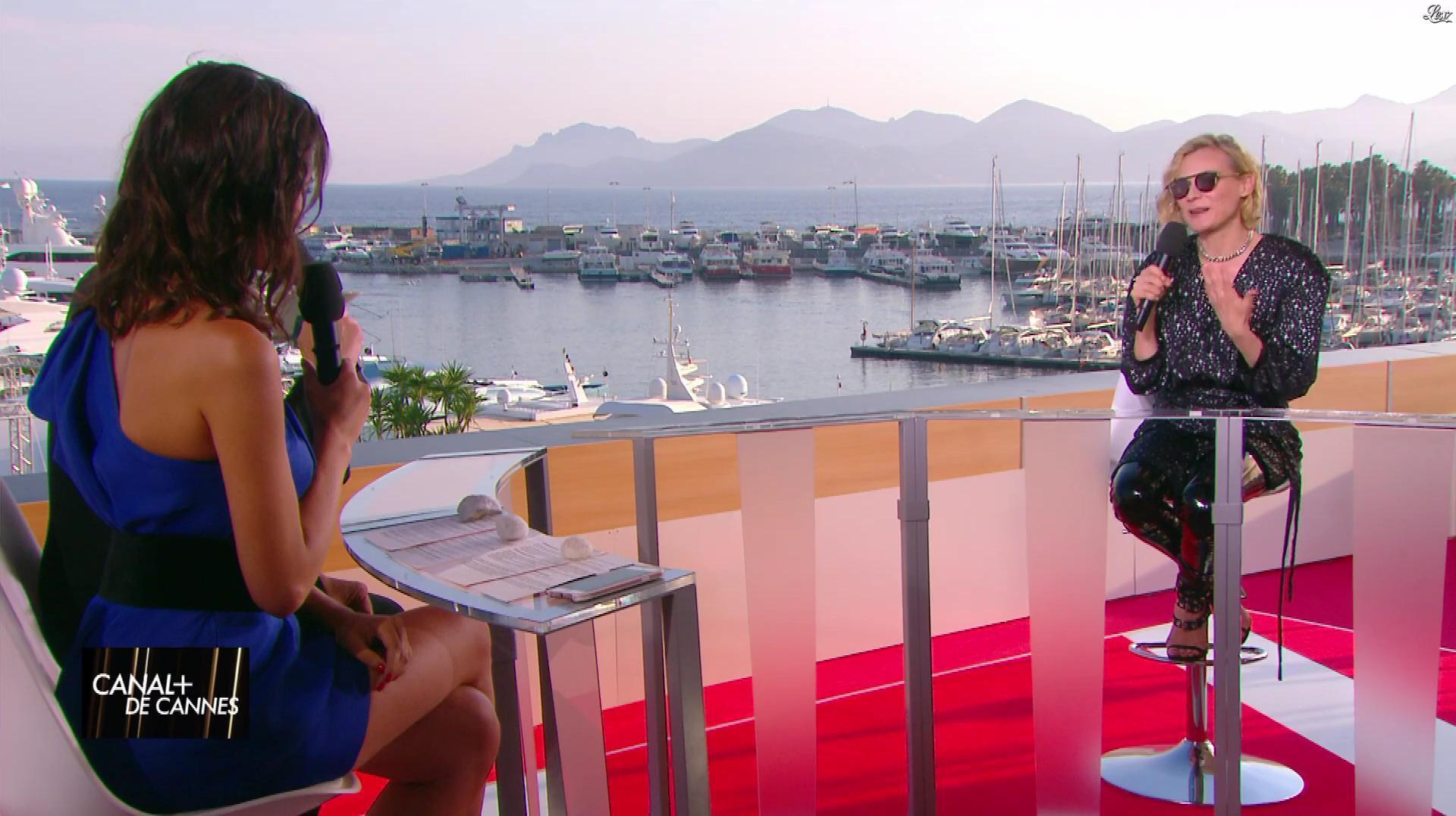 Laurie Cholewa et Diane Kruger dans Canal Plus de Cannes. Diffusé à la télévision le 24/05/17.