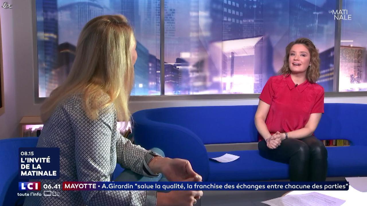Pascale De La Tour Du Pin dans la Matinale. Diffusé à la télévision le 14/03/18.