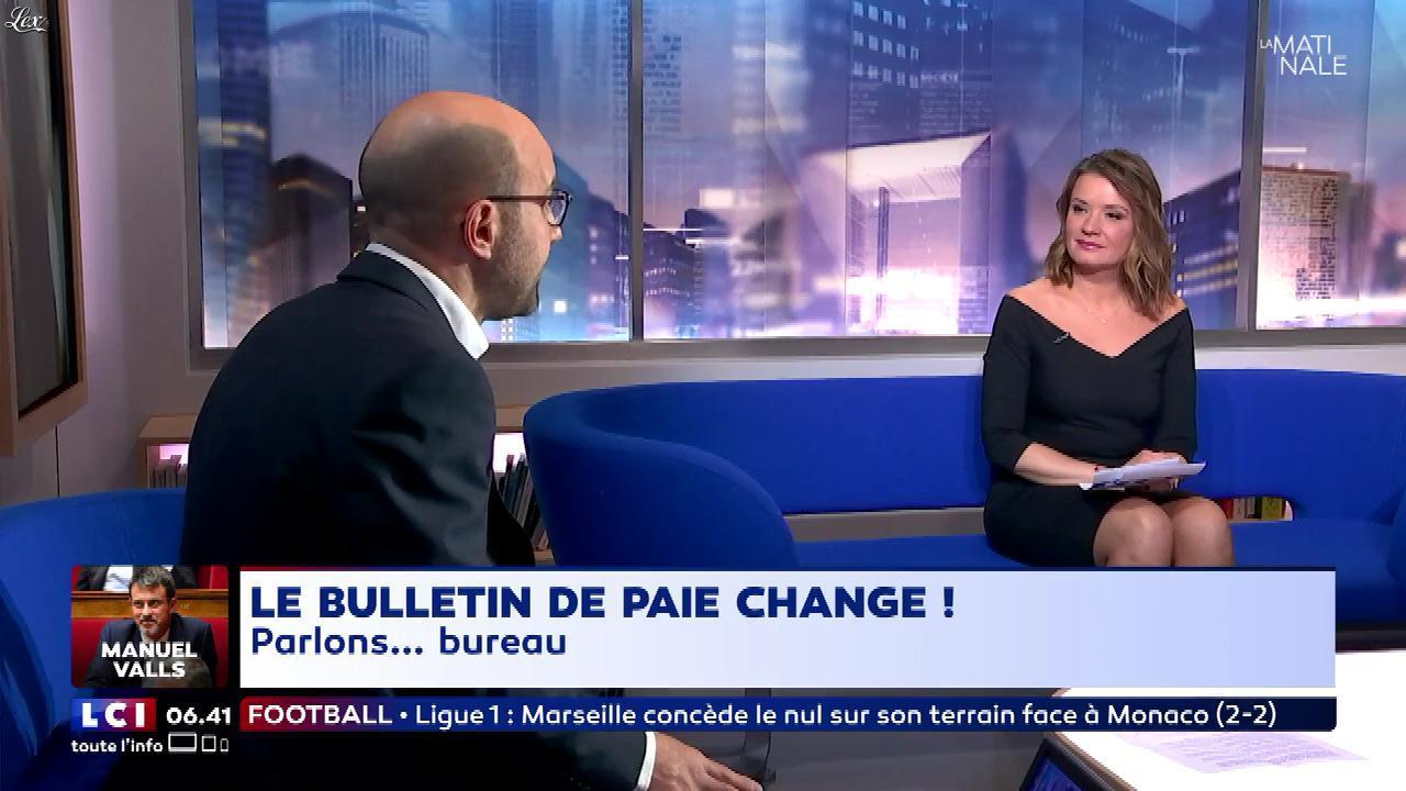 Pascale De La Tour Du Pin dans la Matinale. Diffusé à la télévision le 29/01/18.