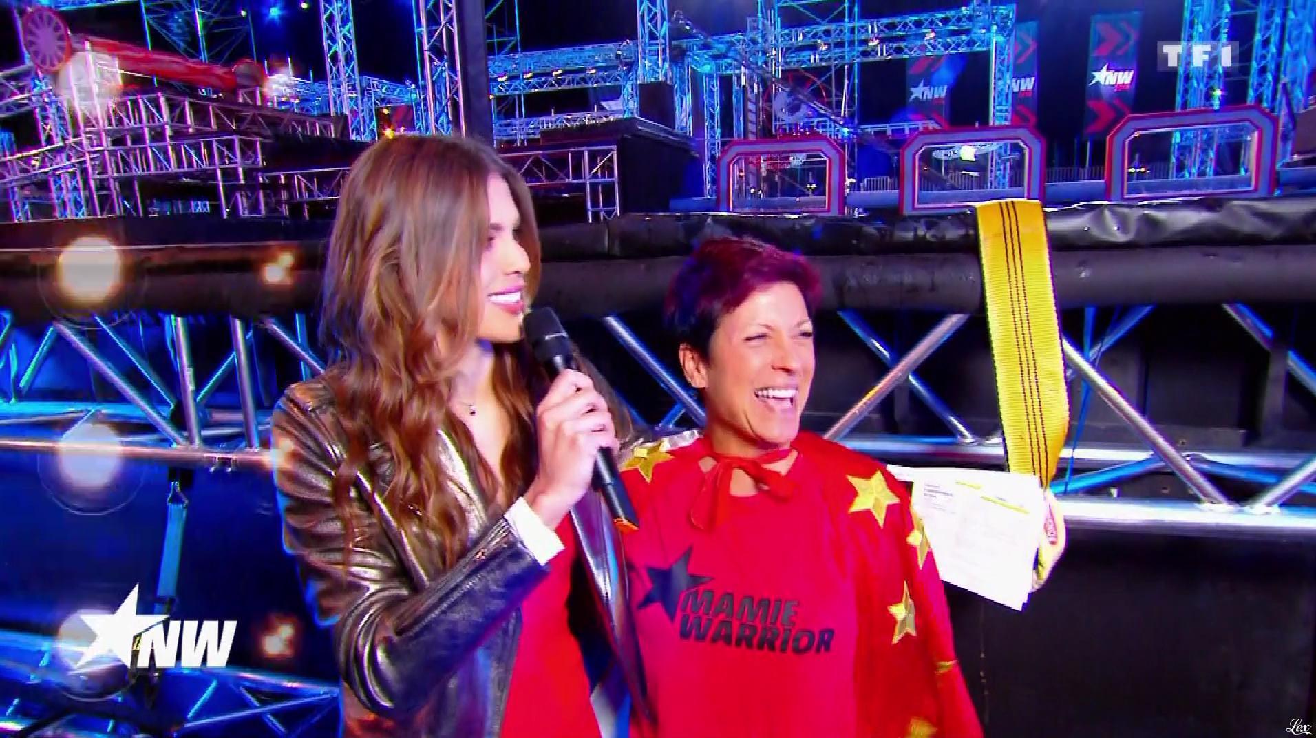 Iris Mittenaere dans Ninja Warrior. Diffusé à la télévision le 31/08/18.