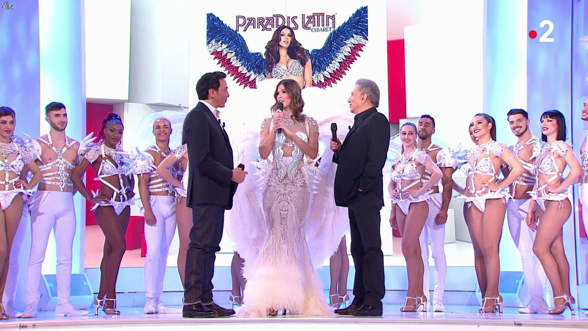 Iris Mittenaere dans Vivement Dimanche. Diffusé à la télévision le 12/05/19.