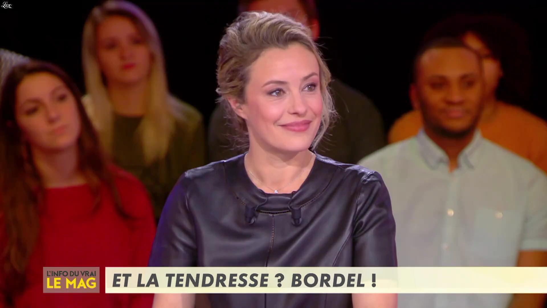 Isabelle Moreau dans l'Info du Vrai le Mag. Diffusé à la télévision le 21/01/19.
