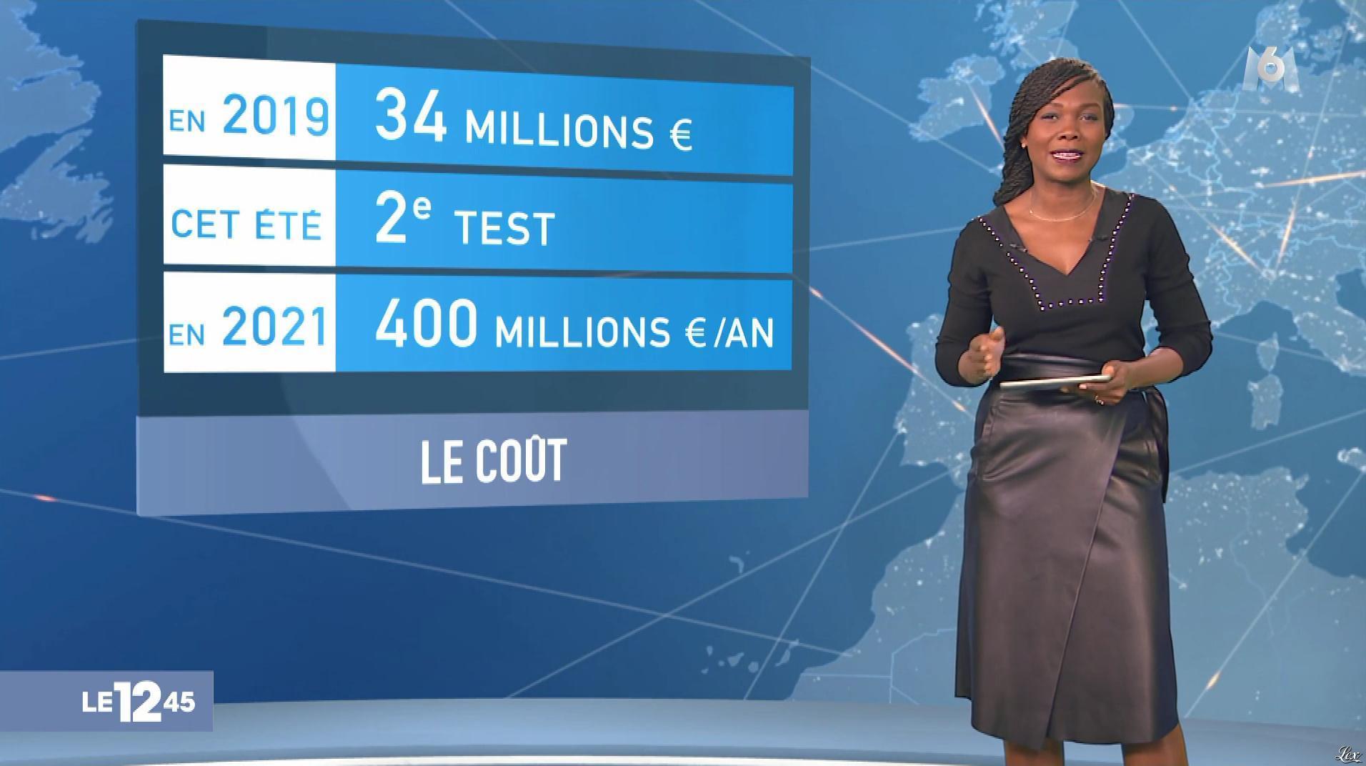 Kareen Guiock dans le 12-45. Diffusé à la télévision le 01/02/19.