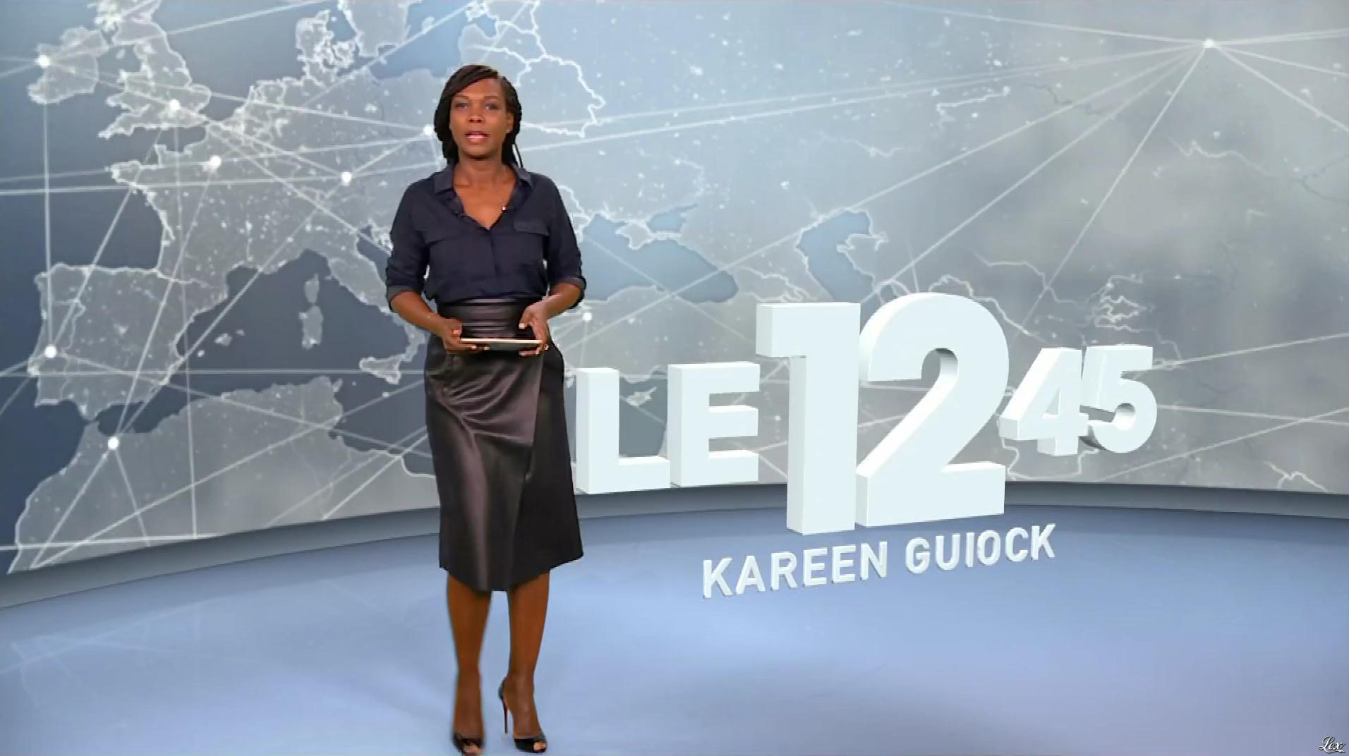 Kareen Guiock dans le 12-45. Diffusé à la télévision le 12/12/18.