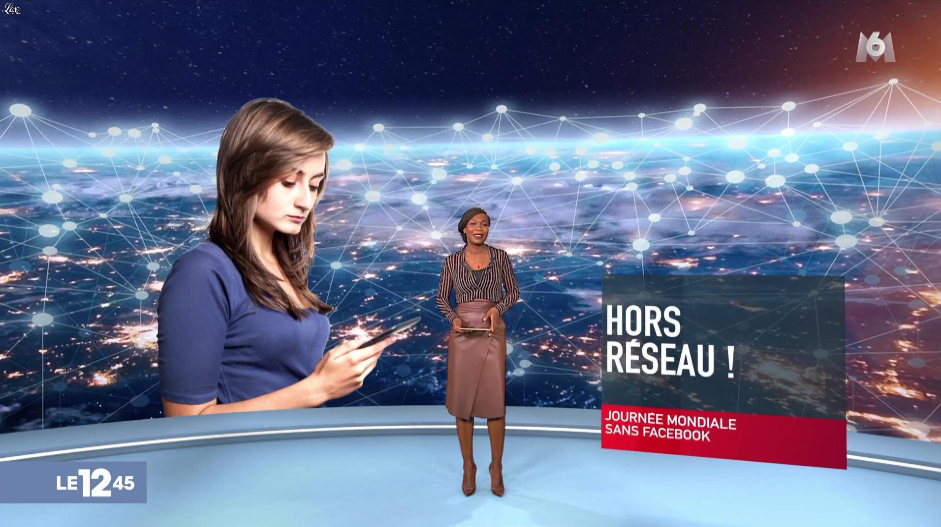 Kareen Guiock dans le 12-45. Diffusé à la télévision le 28/02/19.