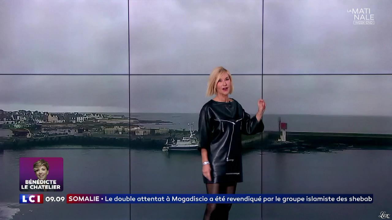 Karine Fauvet dans la Matinale Week-End. Diffusé à la télévision le 29/10/17.