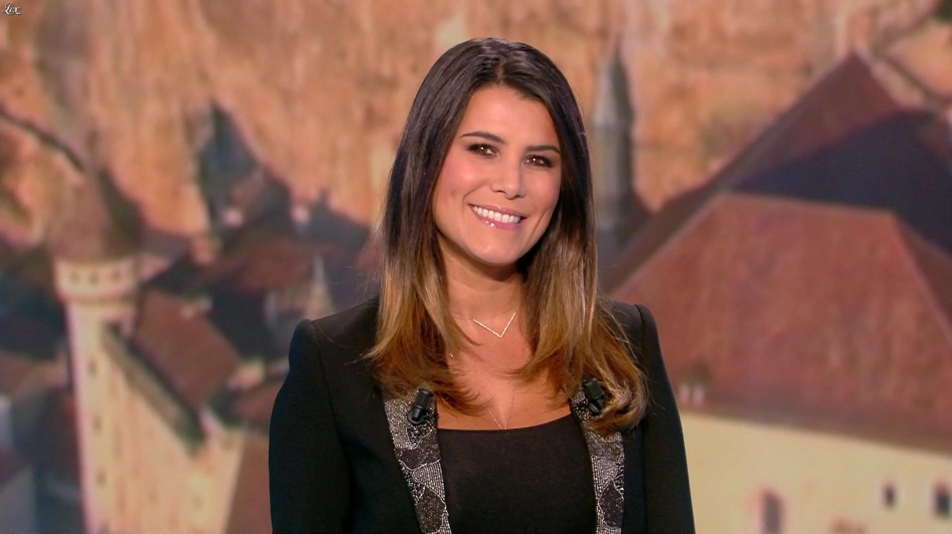 Karine Ferri lors du Tirage du Loto. Diffusé à la télévision le 24/10/18.