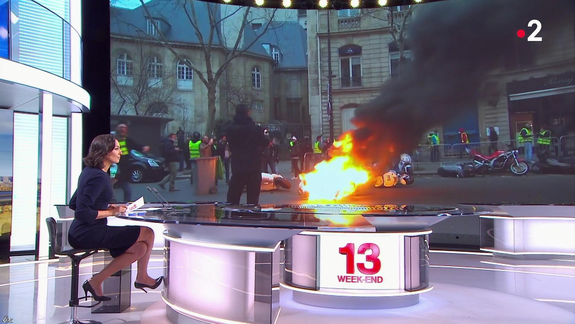 Leïla Kaddour dans le 13h. Diffusé à la télévision le 06/01/19.