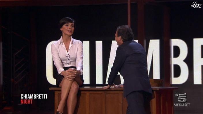 Nina Senicar dans Chiambretti Night. Diffusé à la télévision le 03/04/11.