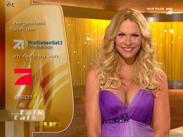 Sonya Kraus dans Talk Talk Talk. Diffusé à la télévision le 15/01/11.