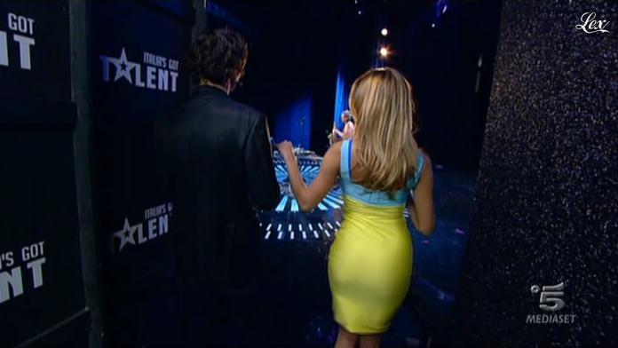 Belen Rodriguez dans Italia s Got Talent. Diffusé à la télévision le 07/01/12.